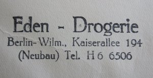Stempel von Ludwig Arons Drogerie